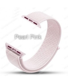 สายนาฬิกา Apple Watch Nylon Sport Loop ผ้าไนล่อนใส่สบาย สีPearl Pink(For Series1/2/3/4) 38,40mm.