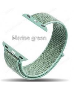 สายนาฬิกา Apple Watch Nylon Sport Loop ผ้าไนล่อนใส่สบาย สีMarine green(For Series1/2/3/4) 42,44mm.