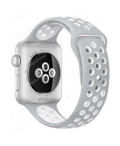 สาย Apple Watch Nike Sport Band 2 โทน สีเทา-ขาว (รองรับ Series1/2/3/4) 38,40 mm. (ส่งฟรี)