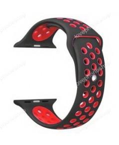 สาย Apple Watch Nike Sport Band 2 โทน สีดำ-แดง(For Series1/2/3/4) 38,40 mm. (ส่งฟรี)