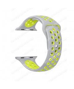 สาย Apple Watch Nike Sport Band 2 โทน สีGray-Yellow (รองรับ Series1/2/3/4) 42,44 mm. (ส่งฟรี)