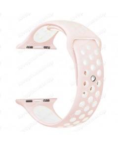 สาย Apple Watch Nike Sport Band 2 โทน สีPink-White  (รองรับ Series1/2/3/4) 38,40 mm. (ส่งฟรี)