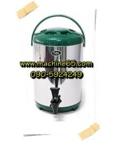 ถังเก็บชา ถังพักชา 10 ลิตร สีเขียว