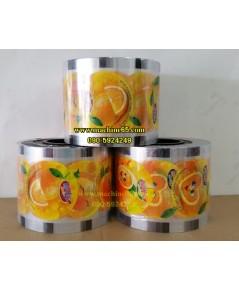 ฟิล์มปิดปากแก้ว ฟิล์มปิดฝาแก้ว ฟิล์มลายน้ำส้ม ม้วนใหญ่