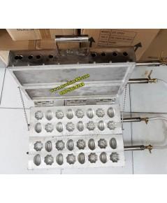 เครื่องทำขนมไข่เตามะเฟืองมะไฟเตาขนมเขียว2บล็อกแก๊ส(อันใหญ่4ซม.)32ชิ้น