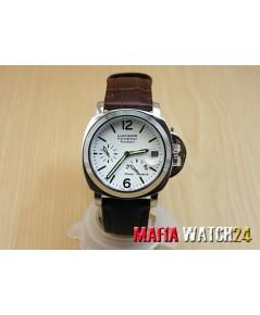M0161นาฬิกา Panerai Luminor Power Reserve Lady Boy Size 40 mm. Pam 90  สายน้ำตาลแก่ Mirror