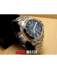 M0508 นาฬิกา Panerai Luminor Power Reserve Steel Black Dial King Size 44MM. PAM171