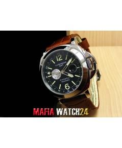 M0349 นาฬิกา Panerai Luminor GMT 44 MM. Men Size PAM088 หน้าดำสายน้ำตาล.