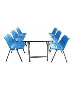 MD3-015 ชุดโต๊ะอาหารและเก้าอี้ (6ตัว)