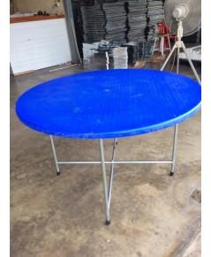 MD7-003 โต๊ะพับหน้ากลมหน้ากว้าง 120 ซม.เก้าอี้นั่งได้8ตัวไม่เบียด (โต๊ะจีน)