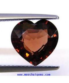 พลอยเพทายดิบรูปหัวใจ น้ำหนัก 4.10 กะรัต