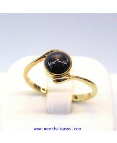 แหวนพลอยสตาร์ดำแท้น่ารักๆ