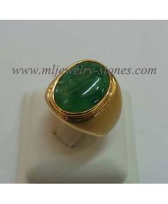 แหวนหยกพม่าตัวเรือนทอง