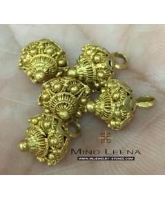 กระดุมทองสัตบงกชโบราณ 5 เม็ด ทองสุกเปอร์เซ็นต์สูง