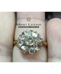 แหวนเพชรซีกลูกโลกกระจุกล้อมโบราณ (จินเจนอินตัน)