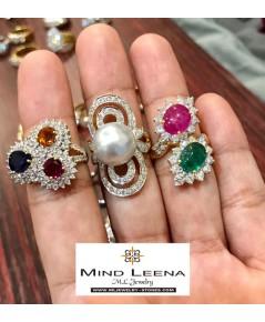 แหวนพลอยประดับเพชรแท้ สินค้ามือสองราคาพิเศษ