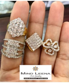 แหวนเพชรแท้เบลเยี่ยมน้ำ 97-98 สินค้ามือสองราคาพิเศษ