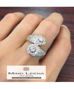 แหวนเพชรแท้เบลเยี่ยมน้ำหนักรวม 1.50 cts.(งานมือสองราคาพิเศษ)