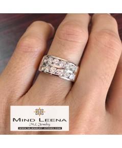 แหวนเพชรแท้เบลเยี่ยมน้ำหนักรวม 1.20 cts.(งานมือสองราคาพิเศษ)