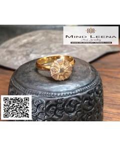 แหวนเพชรซีกกระจุกโบราณ เพชรซีกเก่าสวย
