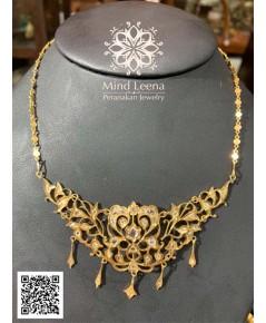 สร้อยคอเพชรซีกโบราณ งาน peranakan nyonya jewelry