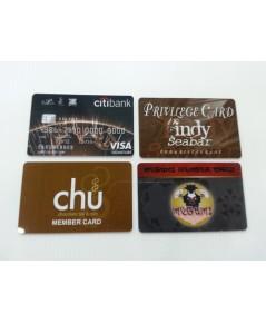 บัตรสมาชิก บัตรส่วนลด บัตรสมาชิก บัตรโฆษณา พีวีซี ใส่บาร์โค๊ด Card PVC 2 ด้าน