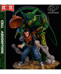 AR Studio Dragonball Z Cell Absorption Android 17 Resin Statue