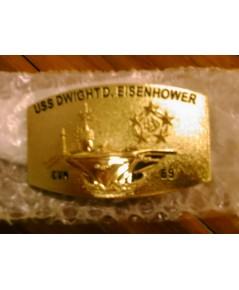 หัวเข็มขัดหัวชุบ เรือ USS DWIGHTD.EISENHOWER CVN-69
