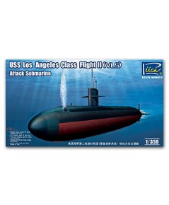 USS Los Angeles Class Flight II (VLS) Attack submarine 1/350 Riich Model