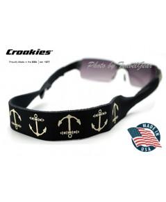 สายคล้องแว่นตา Croakies XL Print รุ่น Anchor Black