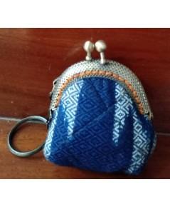 พวงกุญแจ กระเป๋าผ้าย้อมคราม - Handmade