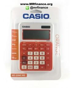 เครื่องคิดเลขตั้งโต๊ะ Casio MS-20NC GN (สีส้ม) ของใหม่ ของแท้