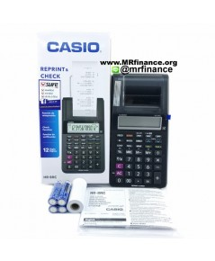 เครื่องคิดเลขพิมพ์กระดาษคาสิโอ Casio HR-8RC BK (สีดำ) ของใหม่ ของแท้ (รุ่นใหม่ล่าสุด)