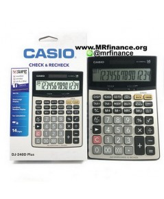 เครื่องคิดเลขตั้งโต๊ะคาสิโอ Casio DJ-240D Plus ของใหม่ ของแท้ ประกันศูนย์ 2 ปี
