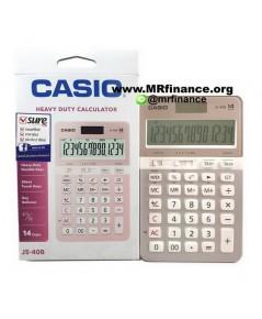 เครื่องคิดเลขตั้งโต๊ะคาสิโอ Casio JS-40B PK สีชมพู ของใหม่ ของแท้