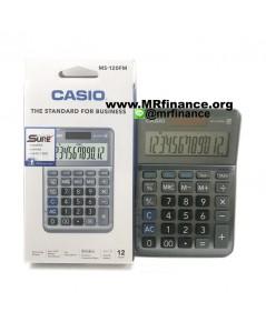 เครื่องคิดเลขตั้งโต๊ะคาสิโอ CASIO MS-120FM รุ่นใหม่ล่าสุด ของใหม่ ของแท้