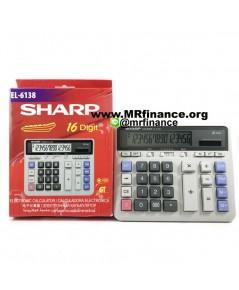เครื่องคิดเลขตั้งโต๊ะชาร์ป Sharp EL-6138 หน้าจอ 16หลัก ของใหม่ ของแท้