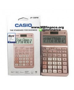 เครื่องคิดเลขตั้งโต๊ะคาสิโอ Casio JF-120FM PK ของใหม่ ของแท้