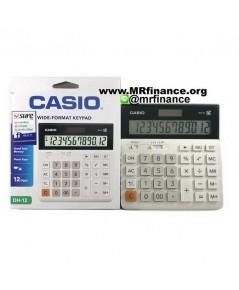 เครื่องคิดเลขตั้งโต๊ะคาสิโอ Casio DH-12 WE สีขาว ของใหม่ ของแท้