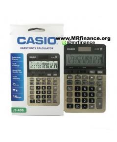 เครื่องคิดเลขตั้งโต๊ะคาสิโอ Casio JS-40B GD (สีทอง) 14 หลัก ของใหม่ ของแท้