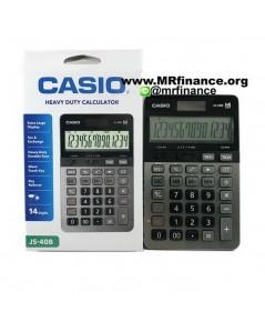 เครื่องคิดเลขตั้งโต๊ะคาสิโอ Casio JS-40B BK (สีดำ) 14 หลัก ของใหม่ ของแท้