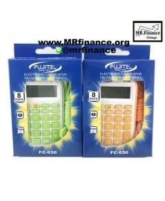 เครื่องคิดเลขพกพาฟูจิเทล Fujitel FC-030 สีส้มและสีเขียว ของใหม่ ของแท้