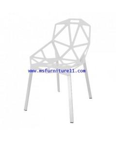 เก้าอี้ PP สีขาว/สีดำ รุ่น Lisa