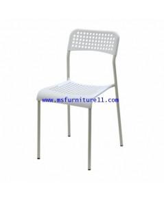 เก้าอี้ PP สีขาว/สีดำ รุ่น Mona