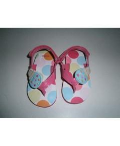 รองเท้ารัดส้น Gymboree สีชมพูลายไอติม size 5/6 ความยาว 13CM ของใหม่