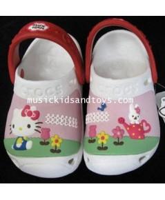 รองเท้า Croc เด็กลายคิตตี้