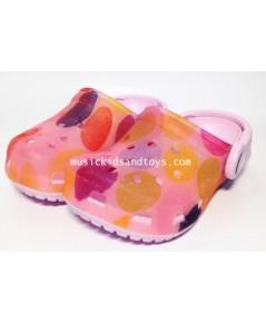 รองเท้า Croc เด็กสีชมพู