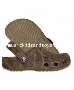 รองเท้า Croc เด็กลายทหารสีน้ำตาล