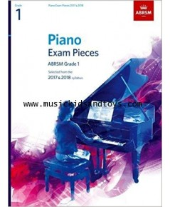 ABRSM Selected Piano Exam Pieces: 2017-2018 Grade 1 - Book Only