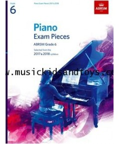 ABRSM Selected Piano Exam Pieces: 2017-2018 Grade 6 - Book Only